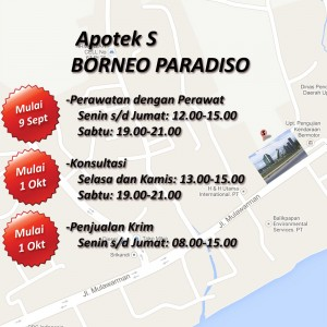 pp soft opening borneo paradiso